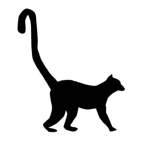 466x466 Lemur Silhouette