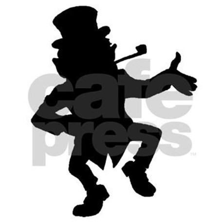 460x460 Dancing Leprechaun Silhouette 3'X5' Area Rug By