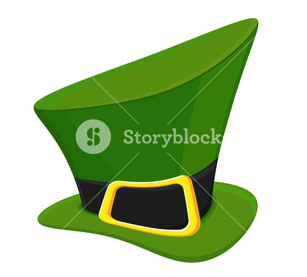 1000x903 Green Vector Leprechaun Hat Royalty Free Stock Image