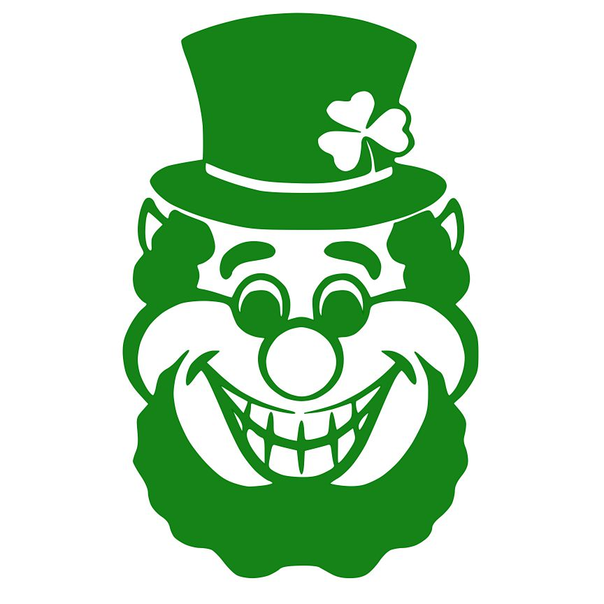 864x864 Leprechaun Face Something To Craft About St Patty's Day