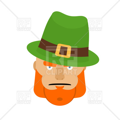 400x400 Leprechaun Face In Green Hat Royalty Free Vector Clip Art Image