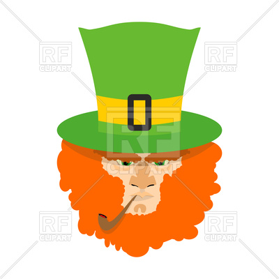 400x400 Leprechaun With Red Beard Royalty Free Vector Clip Art Image