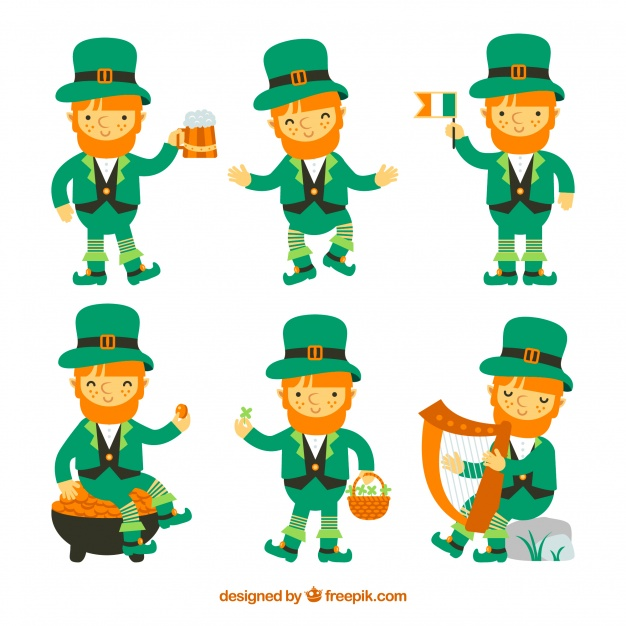 626x626 St Patricks Day Leprechaun Collection Vector Free Download
