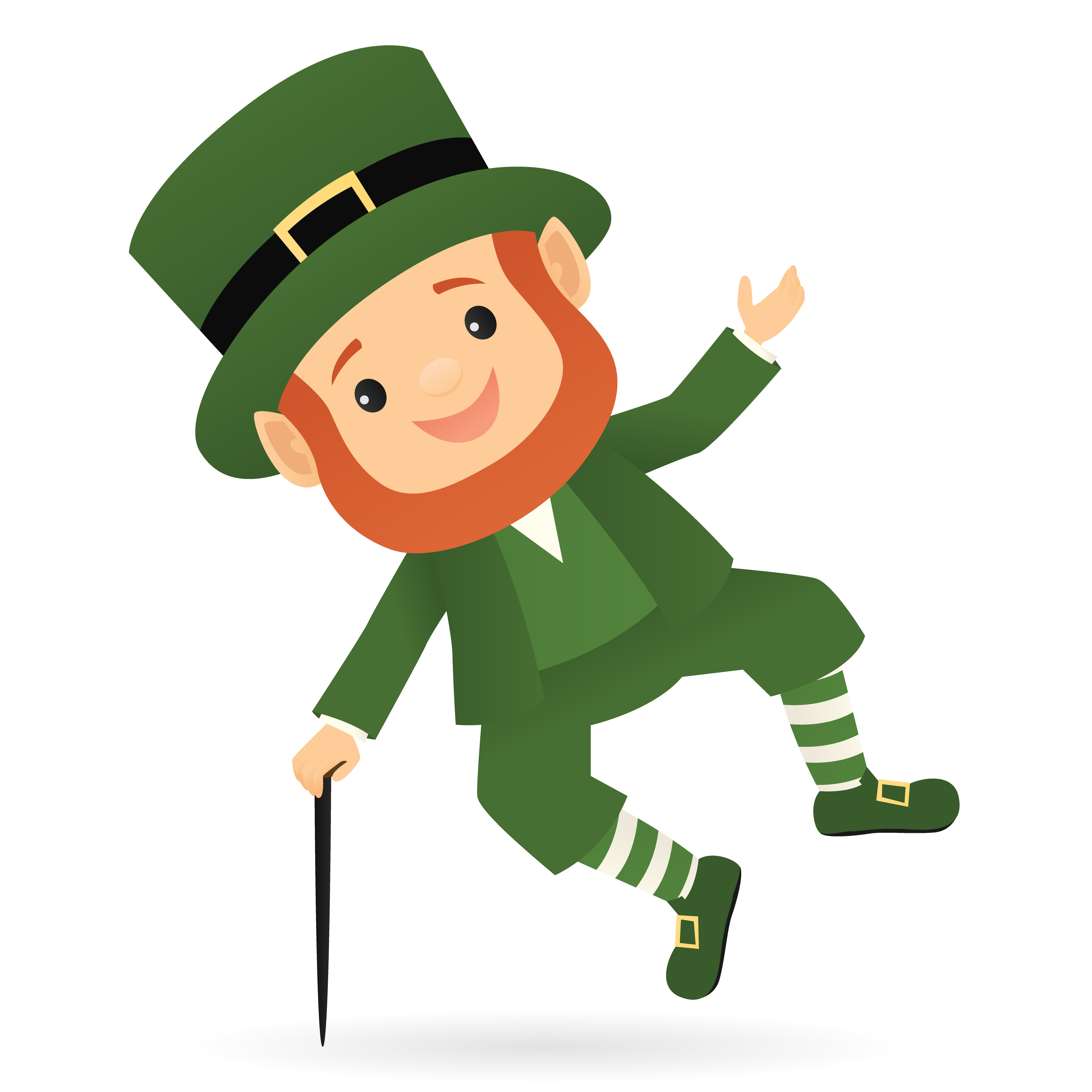 4000x4000 Female Leprechaun Smiling Royalty Free Cliparts Vectors And