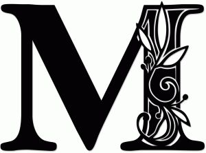 Letter M Silhouette At Getdrawings Com Free For Personal