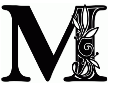 Letter m silhouette at getdrawings free for personal use 397x297 vine monogram m by jennifer wambach thecheapjerseys Image collections