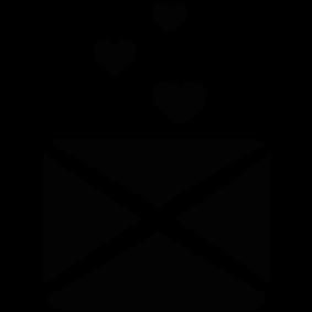 283x283 Love Letter Silhouette Silhouette Of Love Letter