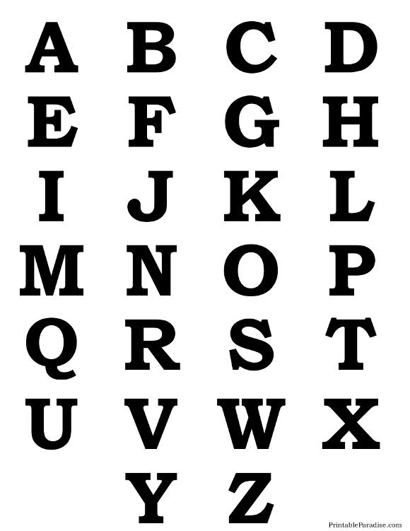580x751 Alphabet Letter Silhouettes