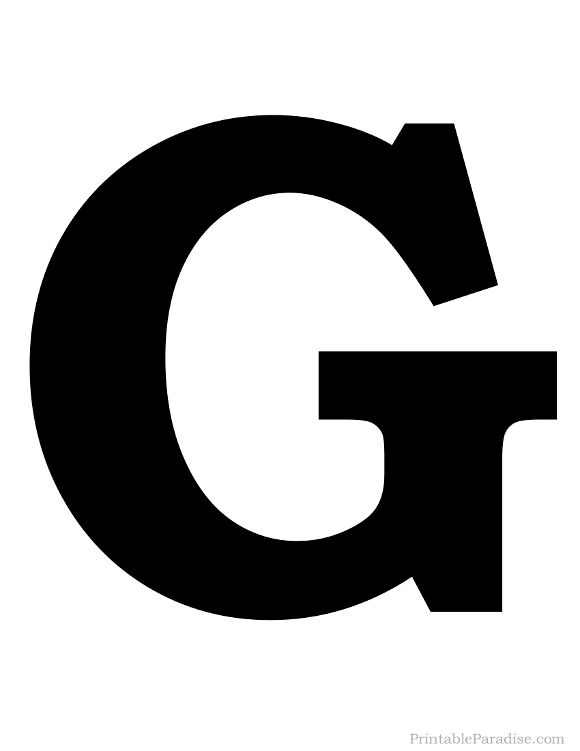 580x751 Printable Letter G Silhouette
