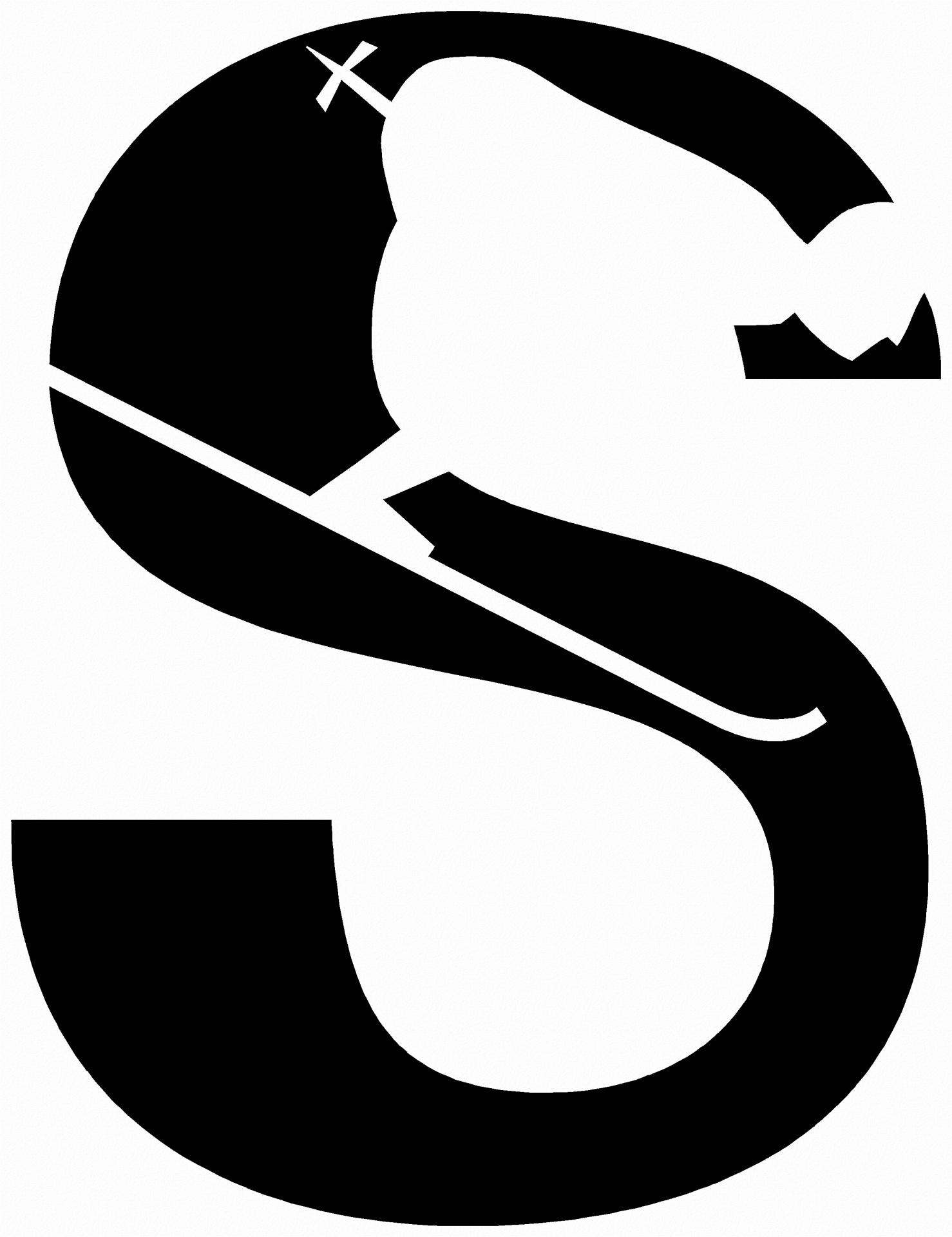 1478x1920 Alphabet Silhouette Letter S Free Stock Photo