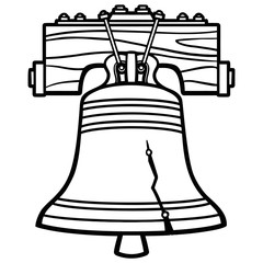 240x240 Liberty Bell Silhouette