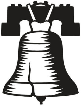 269x350 Clipart Illustration Of The Liberty Bell In Black And White