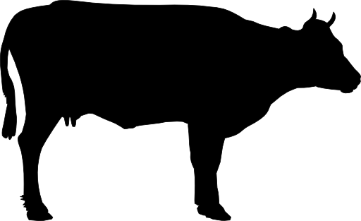 512x313 Cow Silhouette Clip Art