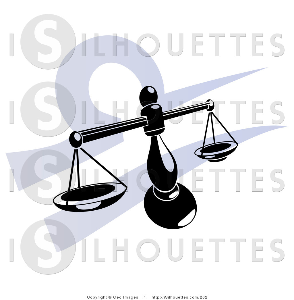 1024x1044 Silhouette Clipart Of A Black Silhouetted Scales Over A Blue Libra