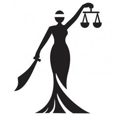 236x236 Statue Of Justice. Silhouette Canvas Print We Live