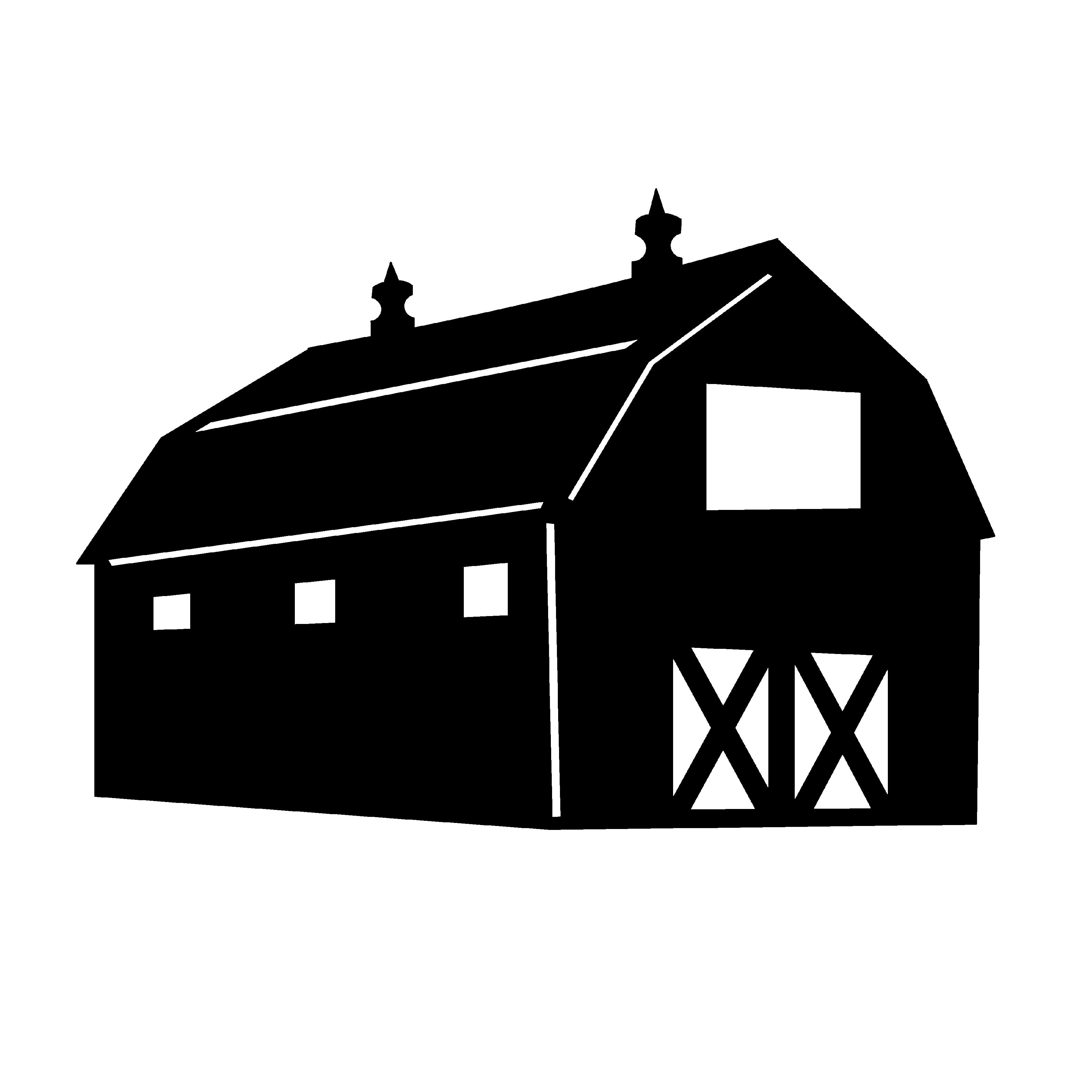 3600x3600 Enjoyable Farm Silhouette Clip Art Clipart Library