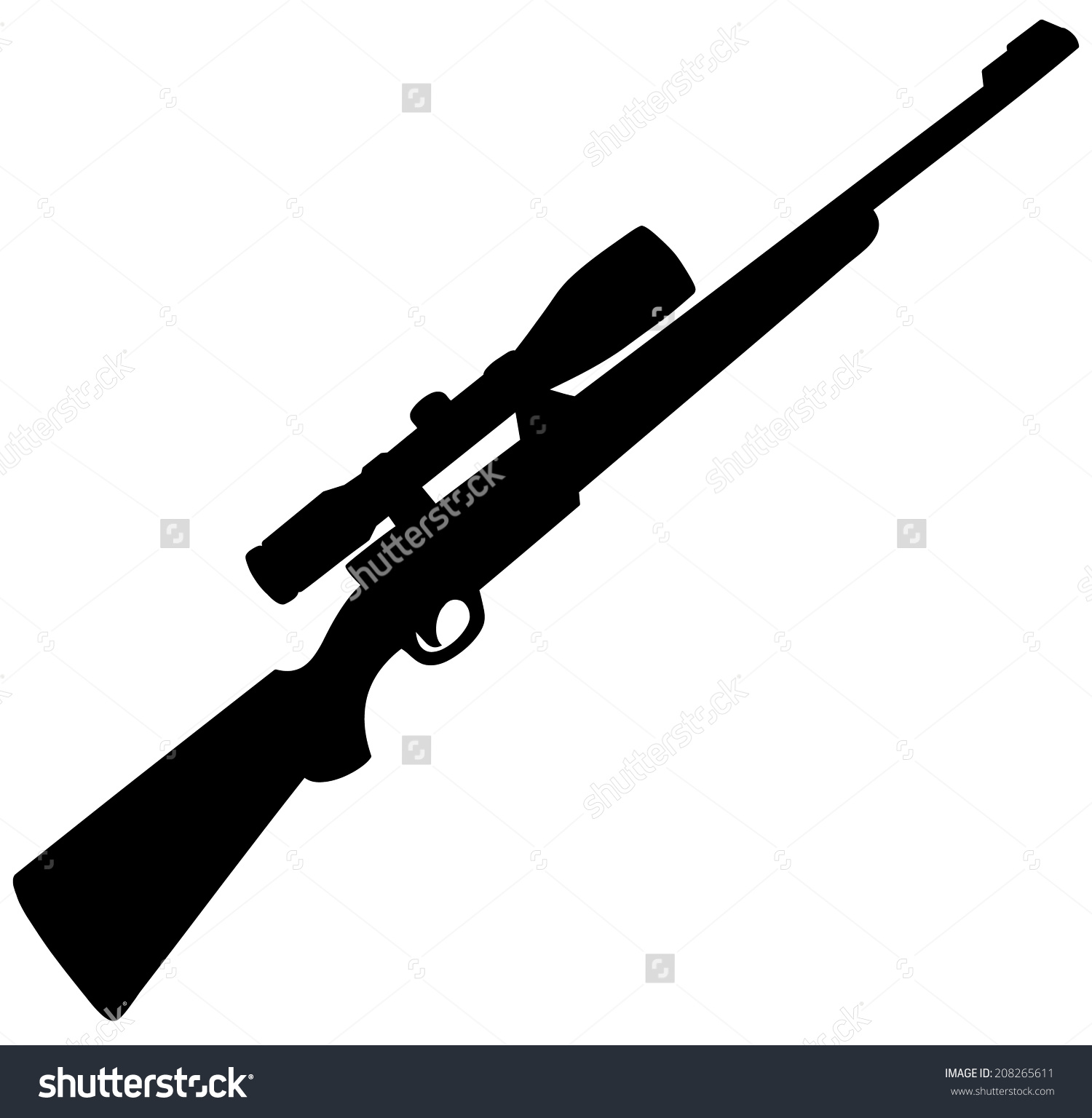 1500x1536 Assault Rifle Clipart Gun Silhouette