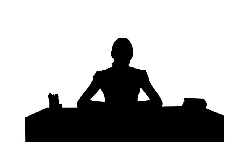 852x480 Silhouette Of A Girl Looking At Books Before A Shelf In