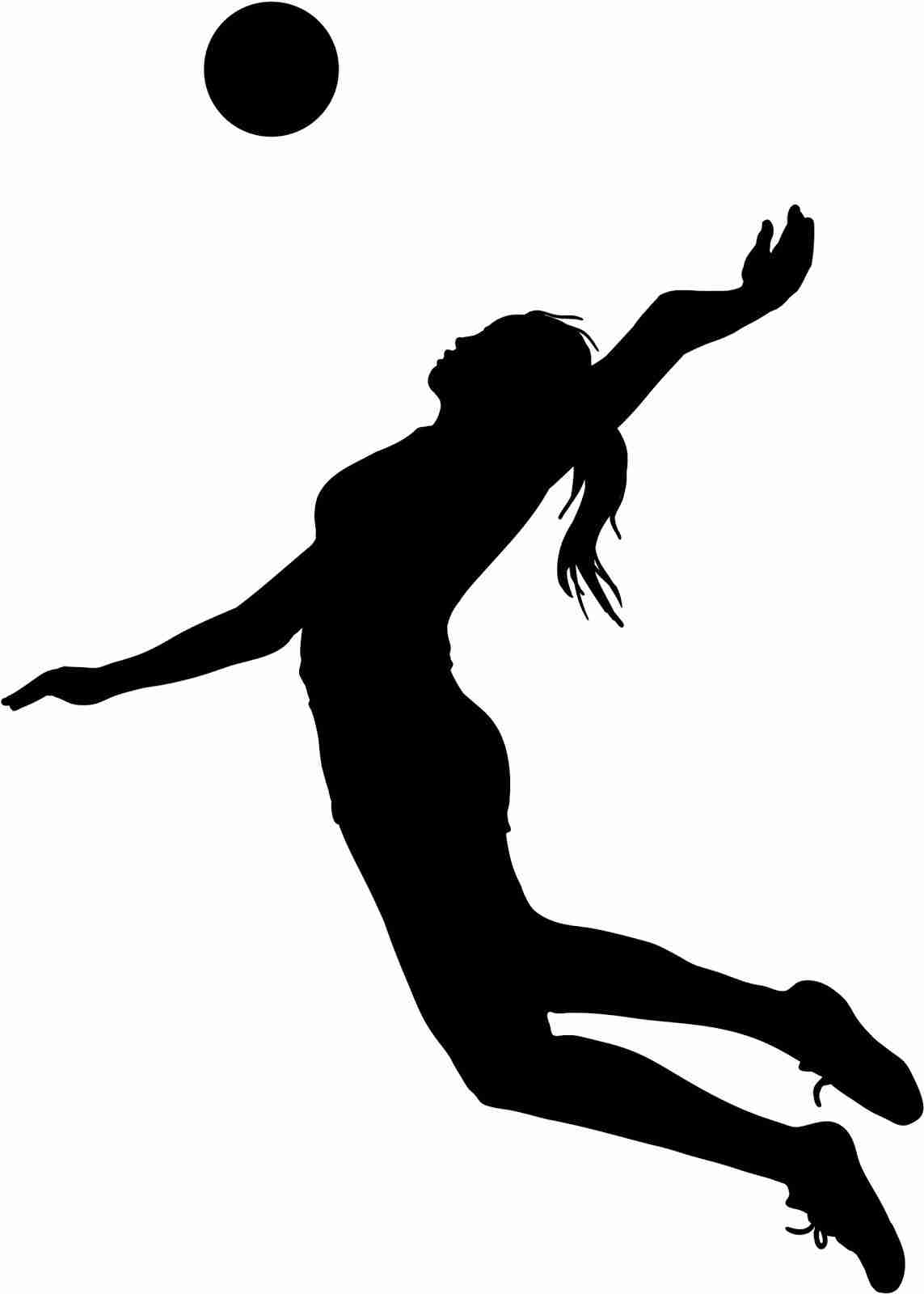 1143x1600 Top Volleyball Player Silhouette Clipart Library Throughout