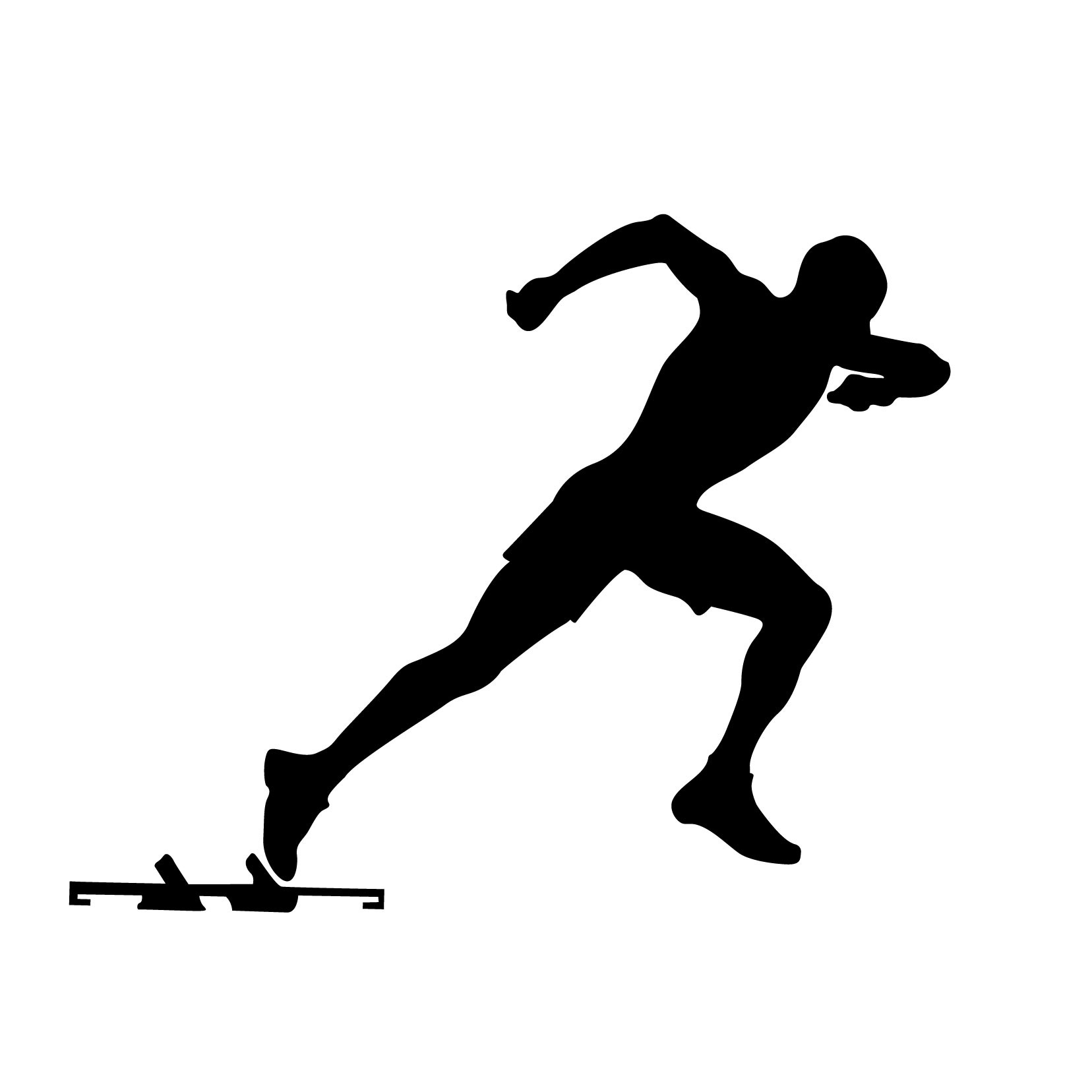 1656x1656 Track Silhouette Clipart Library Track Clipart