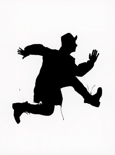 386x520 Silhouette Of Man Escaping By Clare Park