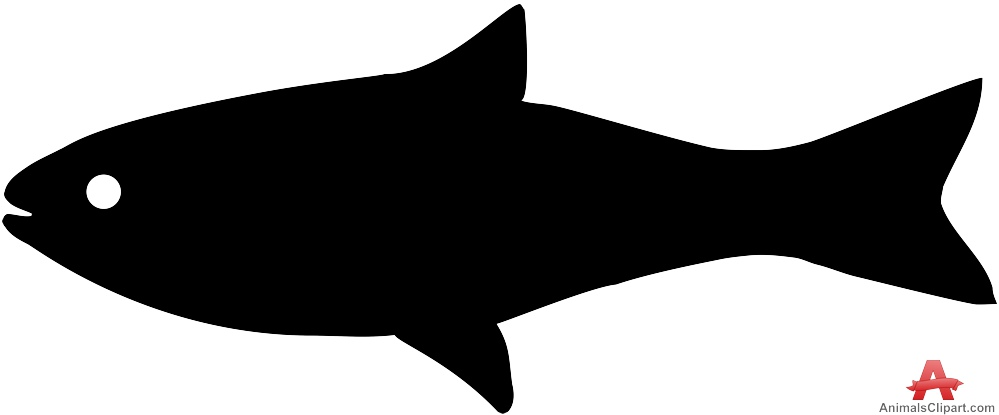 999x415 Clip Art Of Fish Silhouette Shadow Clipart Pencil And In Color