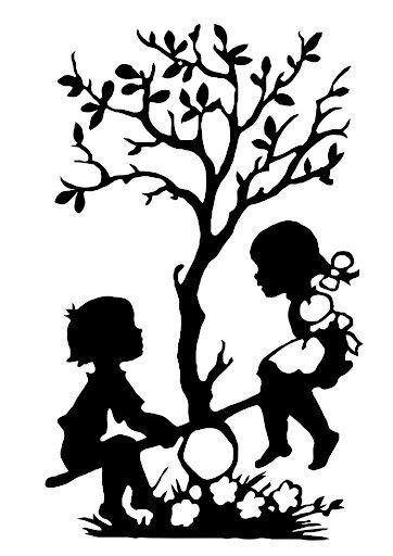 362x512 Balancing ~ Tree Of Life ~ Children ~ Silhouette Silhuetas