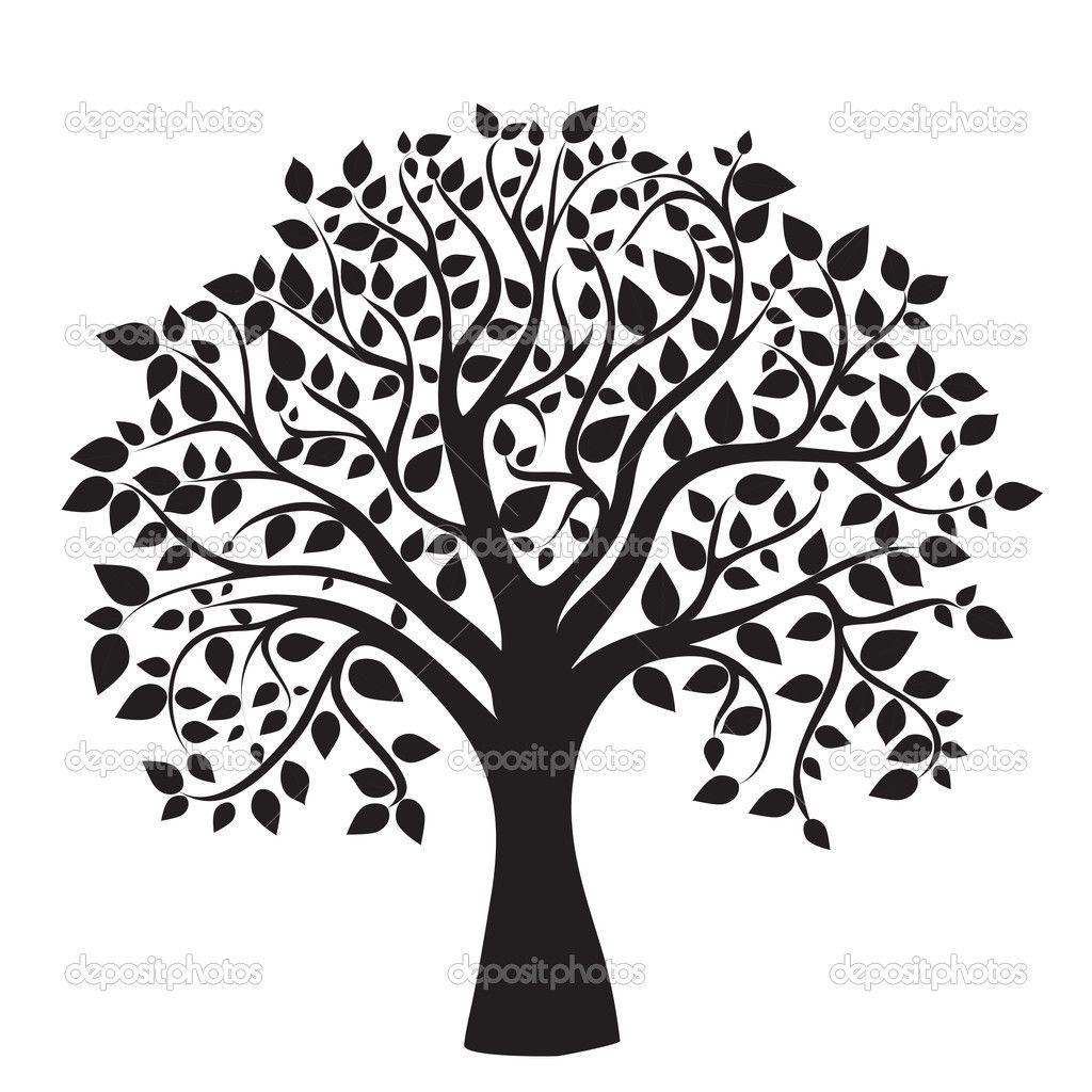 1024x1024 Tree Silhouette Memorial Tree Silhouette, Black