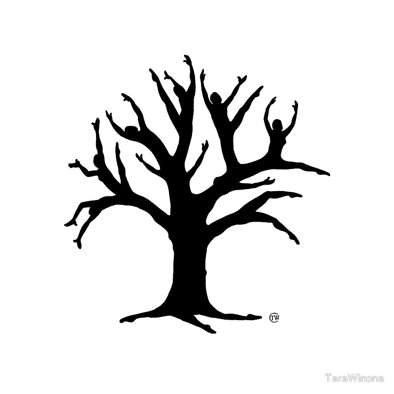 800x800 Tree Of Life Silhouette Posters By Tarawinona Redbubble