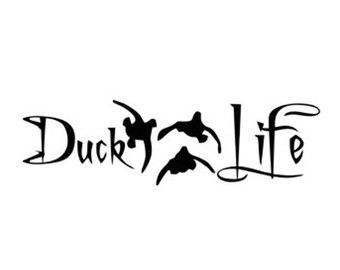 340x270 Duck Life Hunting Decal Stencil Svg Dxf File Instant Download