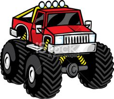 236x205 Monster Truck Design Cutting Template Vector Svg Eps Silhouette