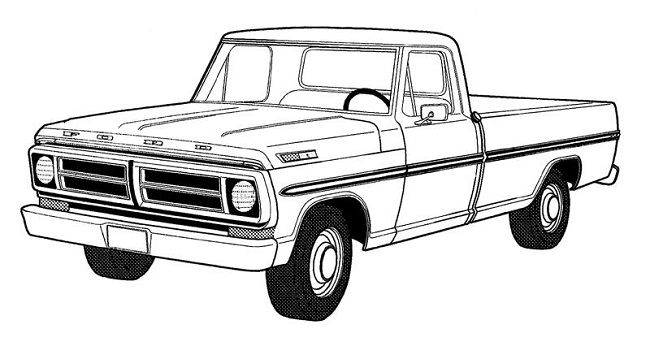 650x346 Pickup Truck Coloring Pages Coloring Pages Car