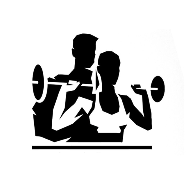 640x640 12.6cm10.9cm Interesting Fitness Weightlifting Sports Silhouette