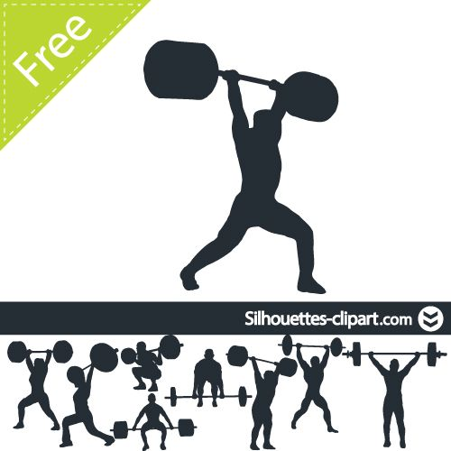 500x500 Weight Lifting Vector Silhouette Silhouettes Clipart