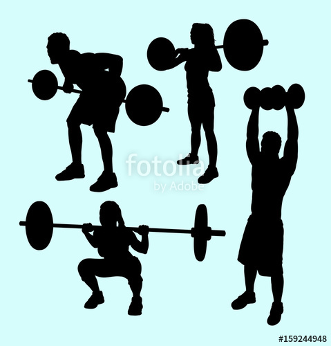 479x500 Heavy Lifting And Fitness Male And Female Silhouette. Good Use