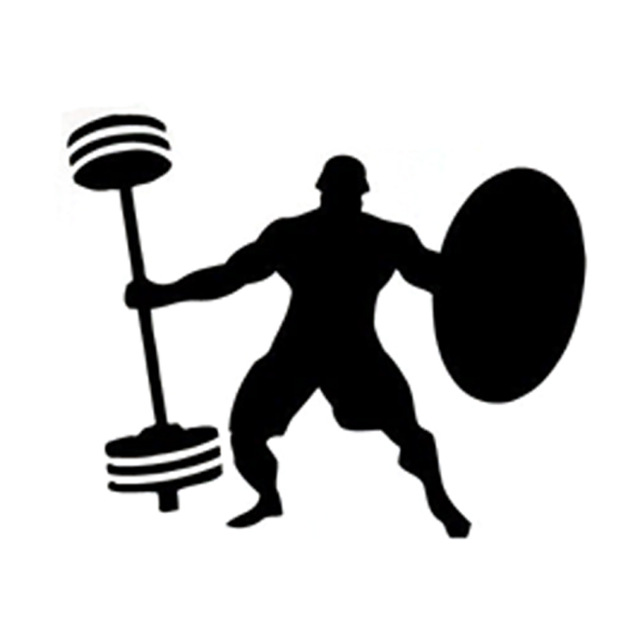 640x640 13cm10.6cm Fashion Sport Weightlifting Fitness Silhouette Decal