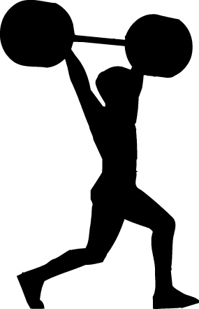 285x441 Lifting Silhouette Clipart