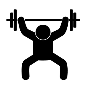 300x300 Lifting Silhouette Clipart