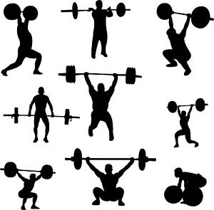 300x295 Lifting Silhouette Clipart