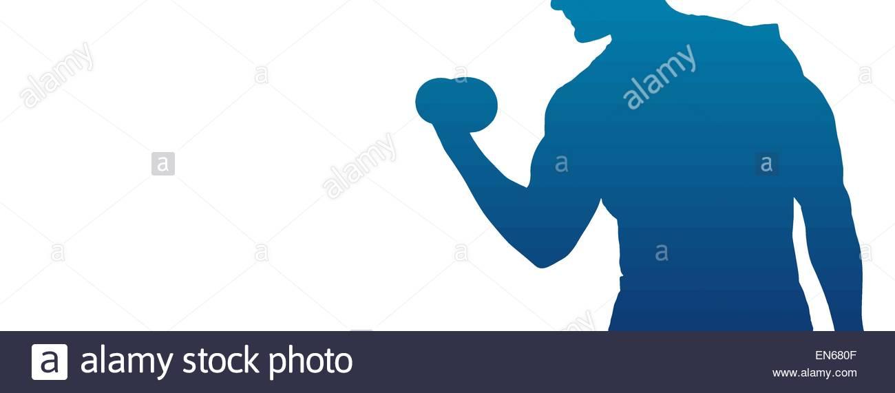 1300x571 Man Lifting Weights Vector Silhouette Stock Vector Art