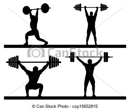 450x380 Silhouette Skinny Girl Lifting Weights Free Clipart