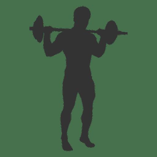 512x512 Bodybuilder Training Silhouette