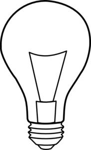 183x299 Light Bulb Outline Clip Art