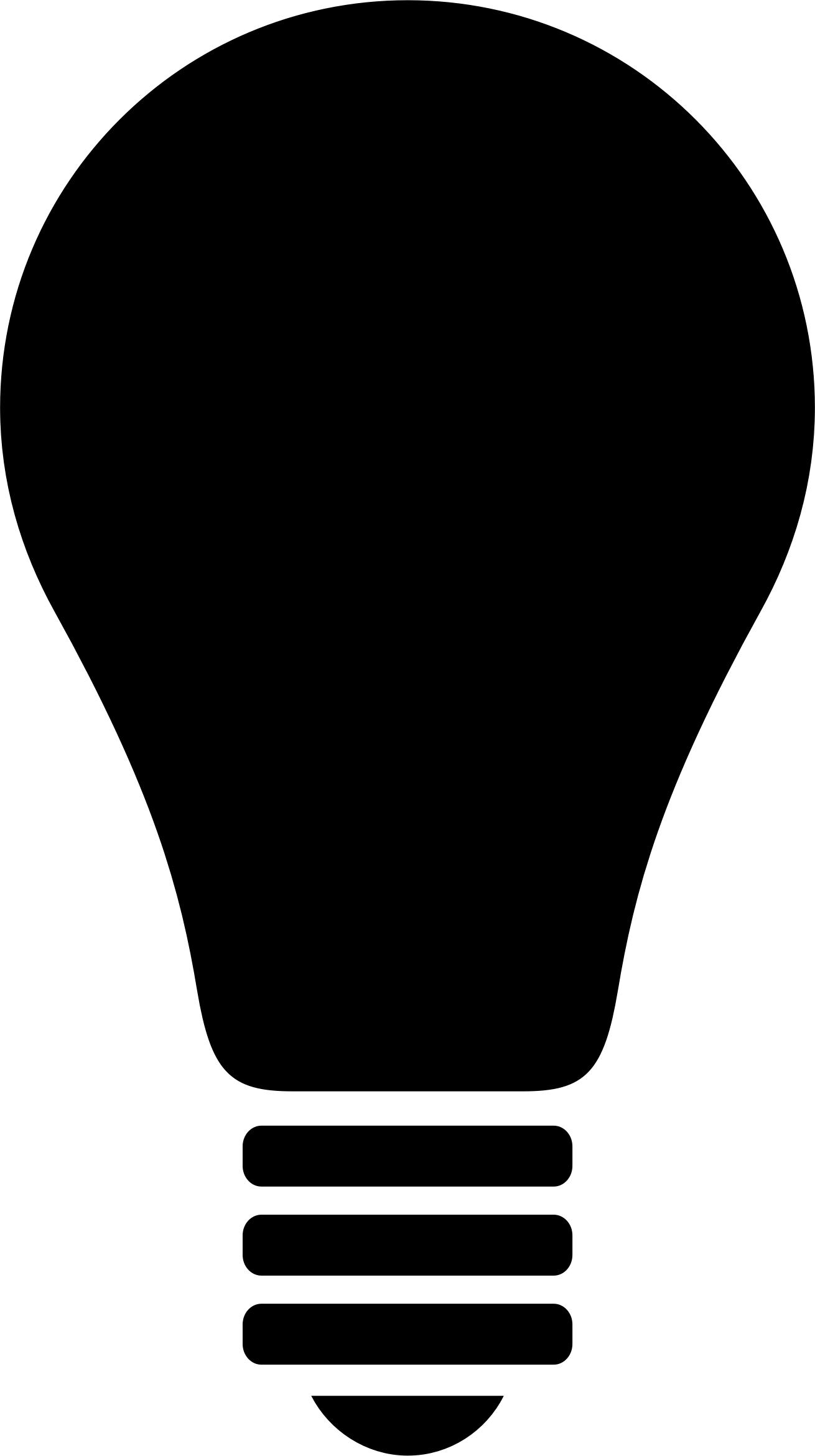 1310x2341 Light Bulb Silhouette 2 Icons Png