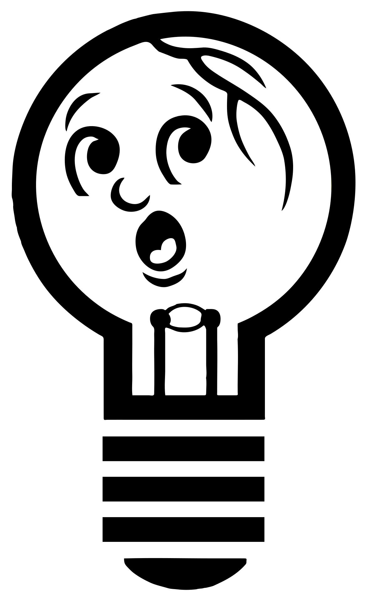 1172x1920 Anthropomorphic Light Bulb Silhouette Clipart