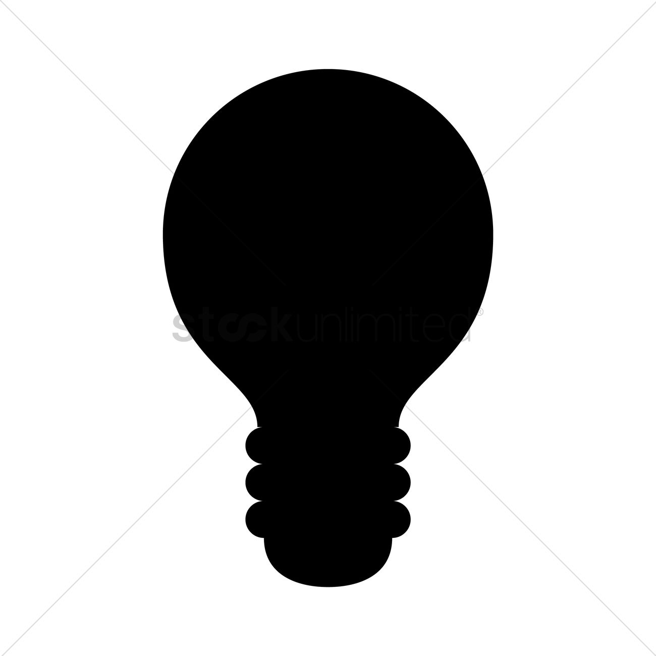 1300x1300 Light Bulb Silhouette Vector Image