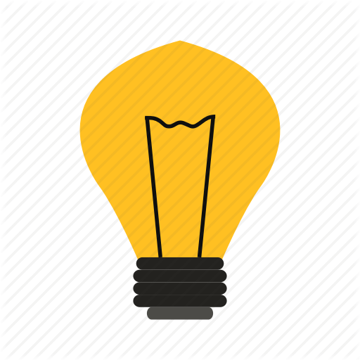 512x512 Background, Illustration, Isolated, Light Bulb, Sign, Silhouette