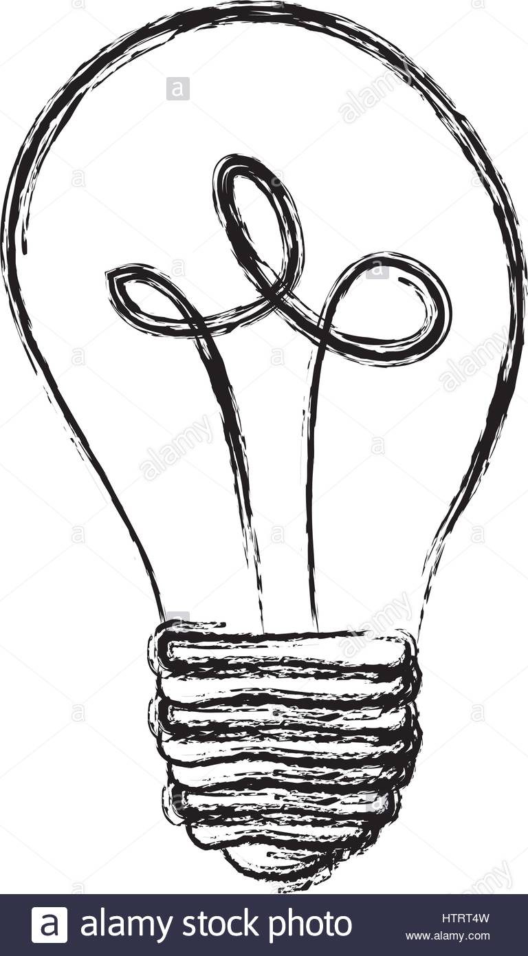 768x1390 Monochrome Sketch With Silhouette Of Light Bulb Off Stock Vector