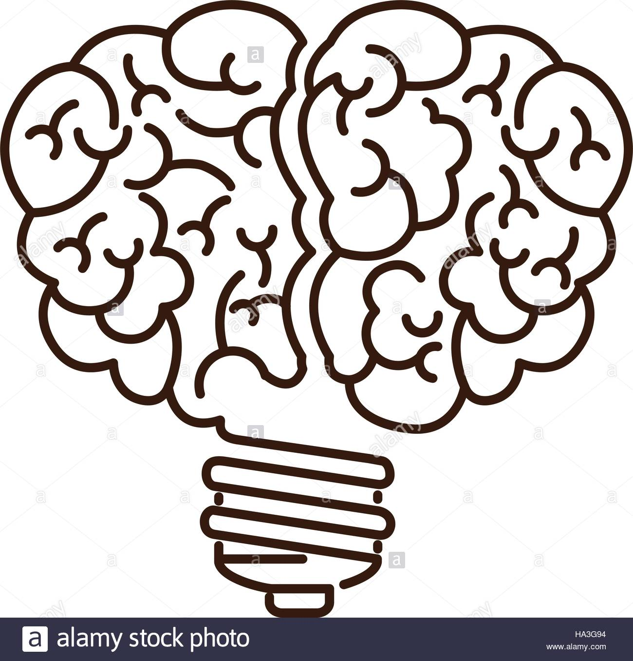 1300x1356 Silhouette Light Bulb Flat Icon In Brain Shape Vector Illustration