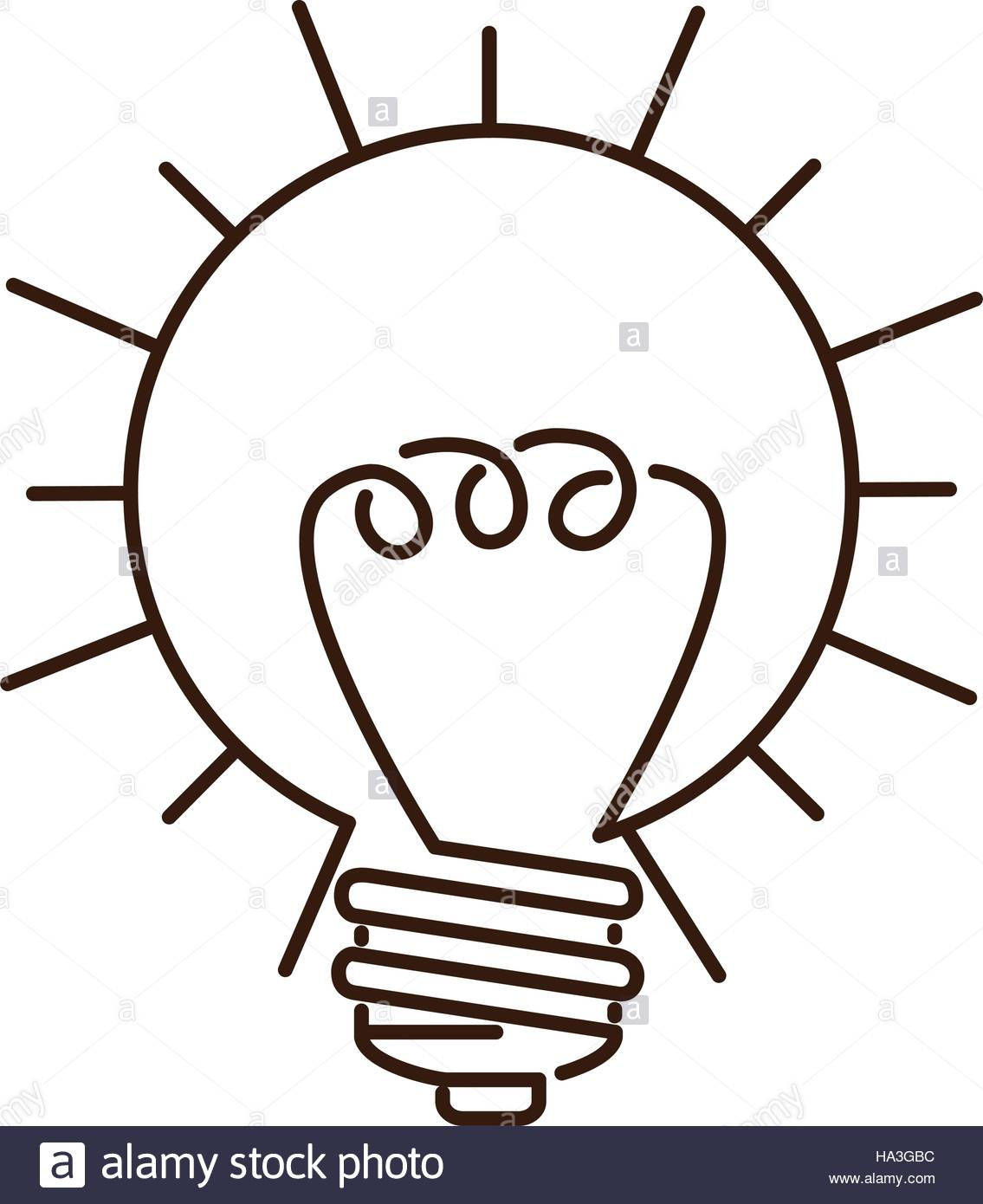 1135x1390 Silhouette Light Bulb Flat Icon In Sun Shape Vector Illustration